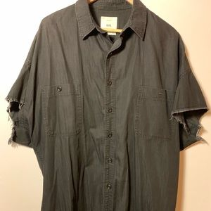 ❗️SALE❗️Zara Mid Sleeve Distressed Dressing Shirt